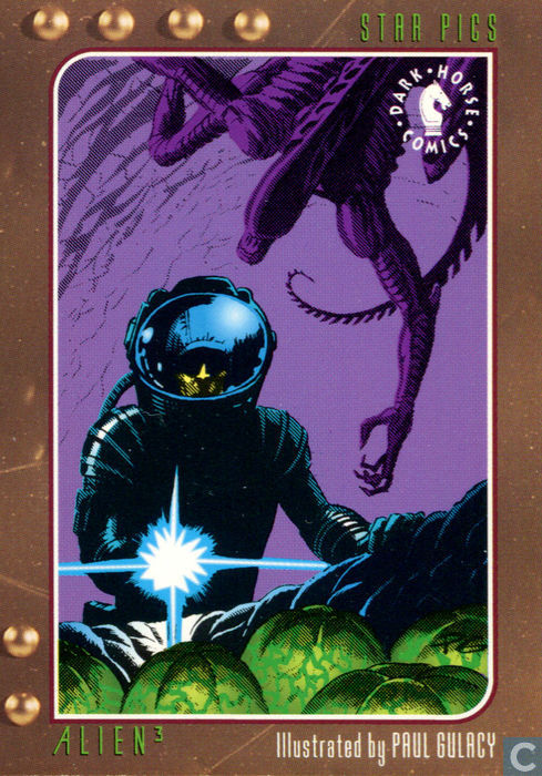 Alien 3 Card Illustrated by Paul Gulacy - Dark Horse Comics