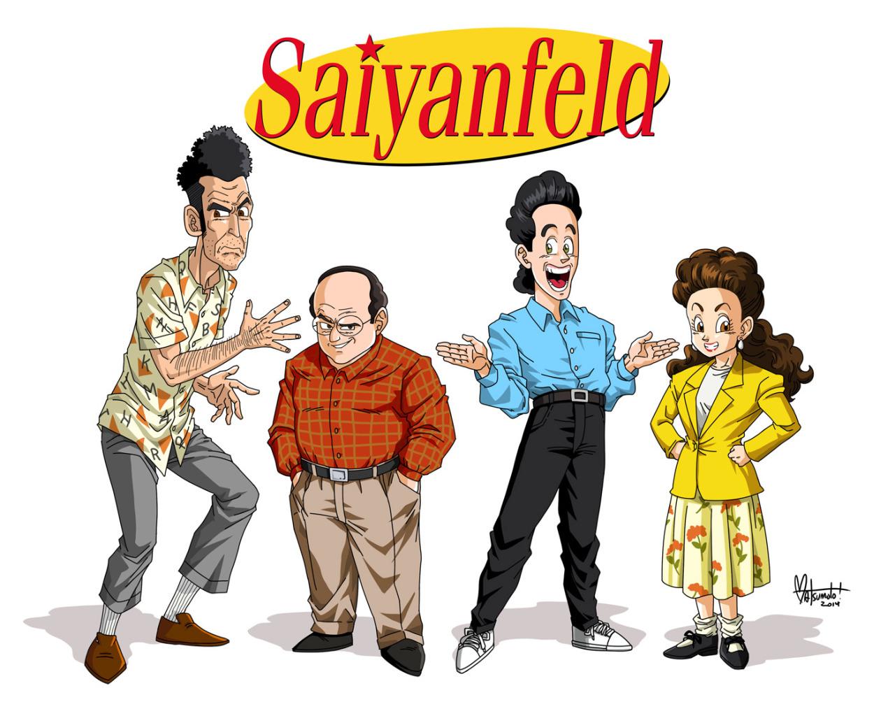 Saiyanfeld Anime Style Seinfeld Fanart