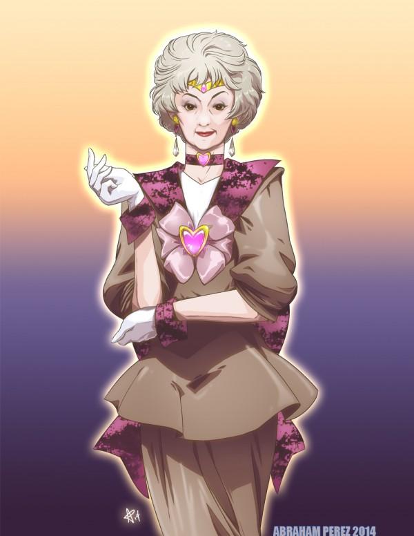 Sailor Zbornak - Golden Girls Dorothy (Bea Arthur) as Sailor Scout