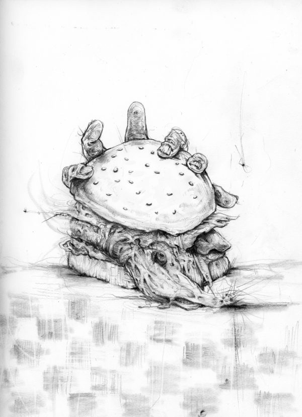 4 - Blards Burgers - Nightmare Soup inspired by Scary Stories to Tell in the Dark's Stephen Gammell