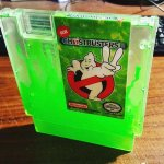 Ghostbusters 2 Ectoplasm Filled NES Cartridge - Custom Green Slime Nintendo Game