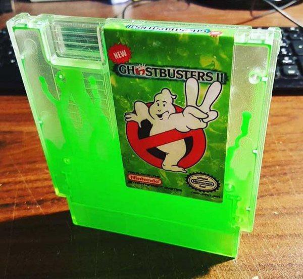 Ghostbusters 2 Ectoplasm Filled NES Cartridge - Custom Green Slime Nintendo Game