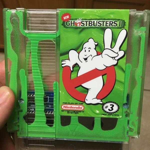 Ghostbusters II Green Slime Nintendo Cartridge