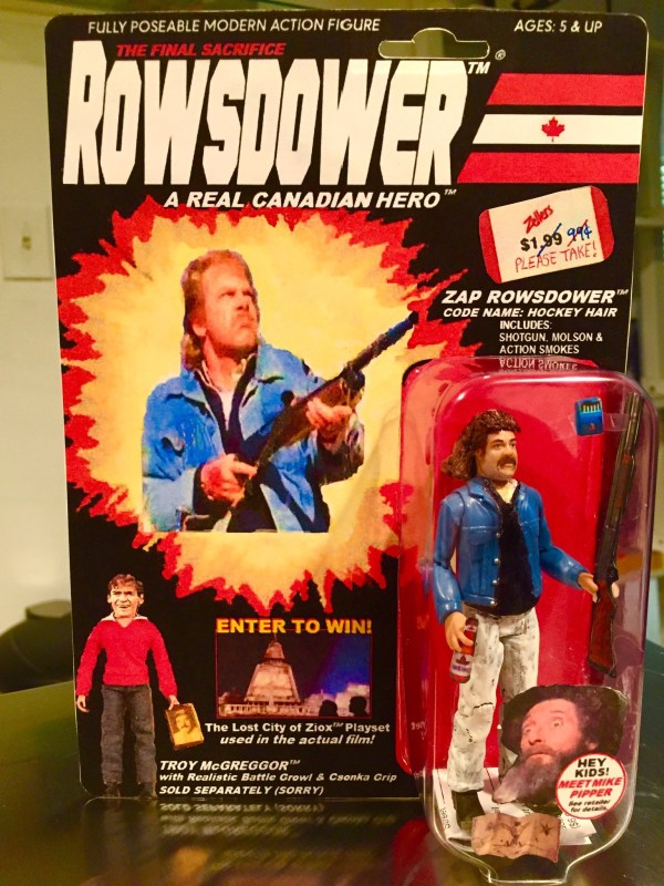 Zap Rowsdower Action Figure - Custom G.I. Joe in Box