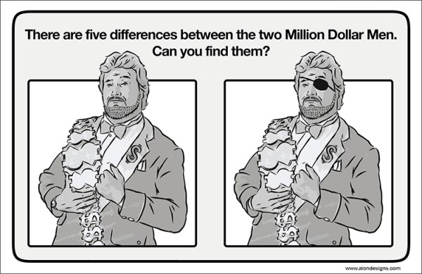 Old School Wrestling Activity Book Million Dollar Man