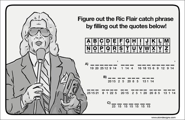 Old School Wrestling Activity Book Ric Flair