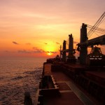 Bulker at Sunset