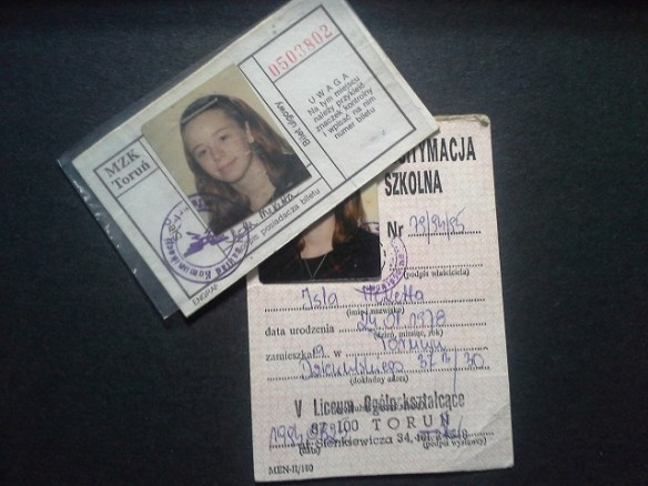 Isla's School ID and Bus Pass, Poland, 1994