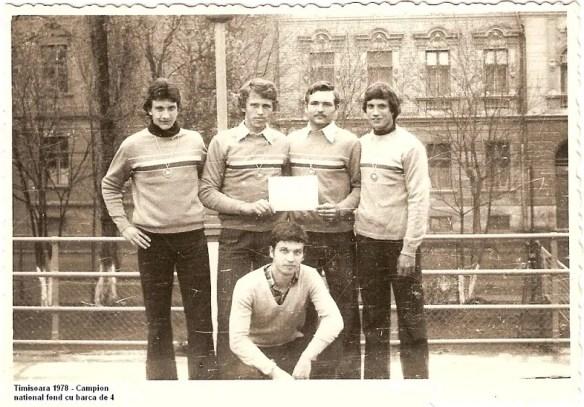 Radu Codrescu, first on the left, rowing champion at 16