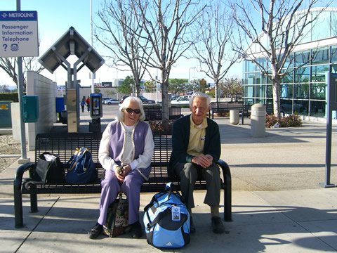 Janice and Bill at Van Nuys train station