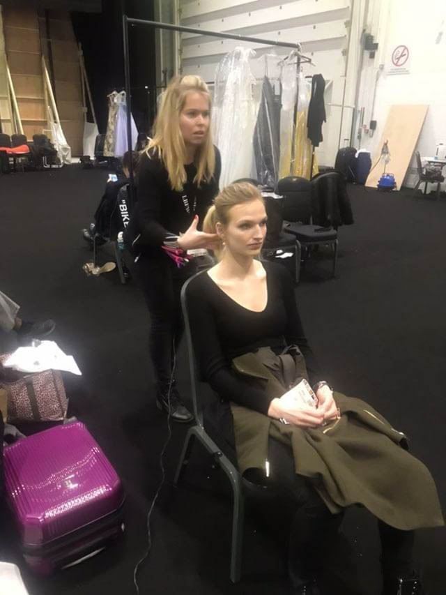 Bridal fashion week back stage