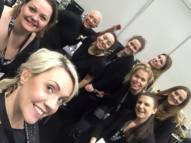 London bridal fashion week team make up artists hair stylists