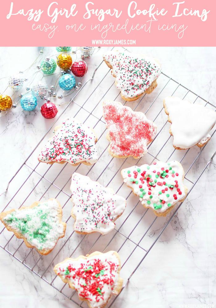 Lazy Girl, ONE Ingredient Easy Sugar Cookie Icing