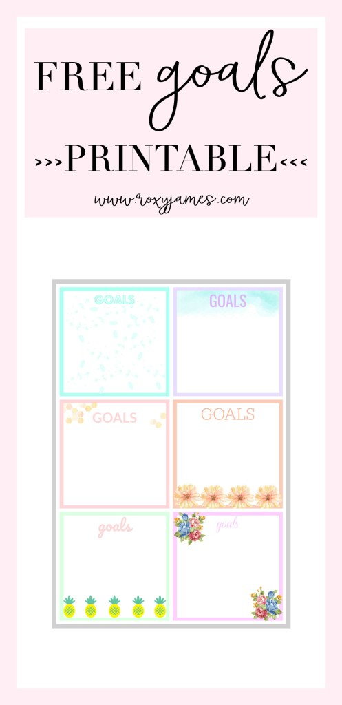 Track your Goals & FREE Goals Printable