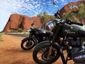 Royal Enfields at Ayers Rock