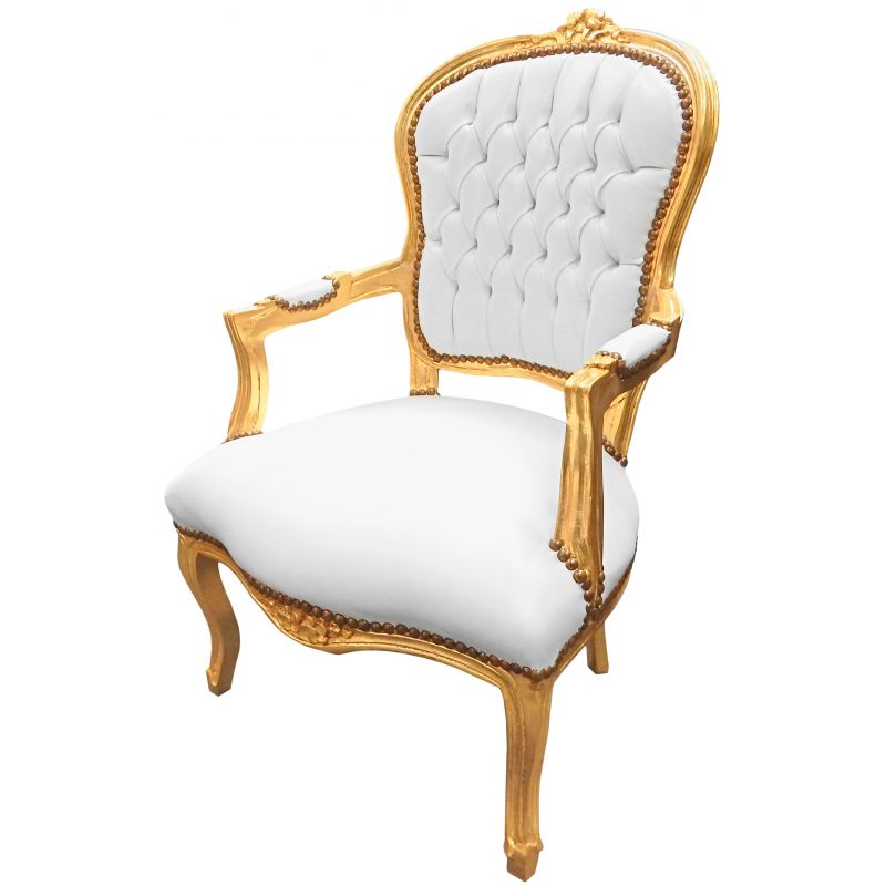 White And Gold Armchair