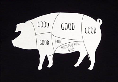 Panoware Mens Really Good Pig Bacon Funny T Shirt Royal