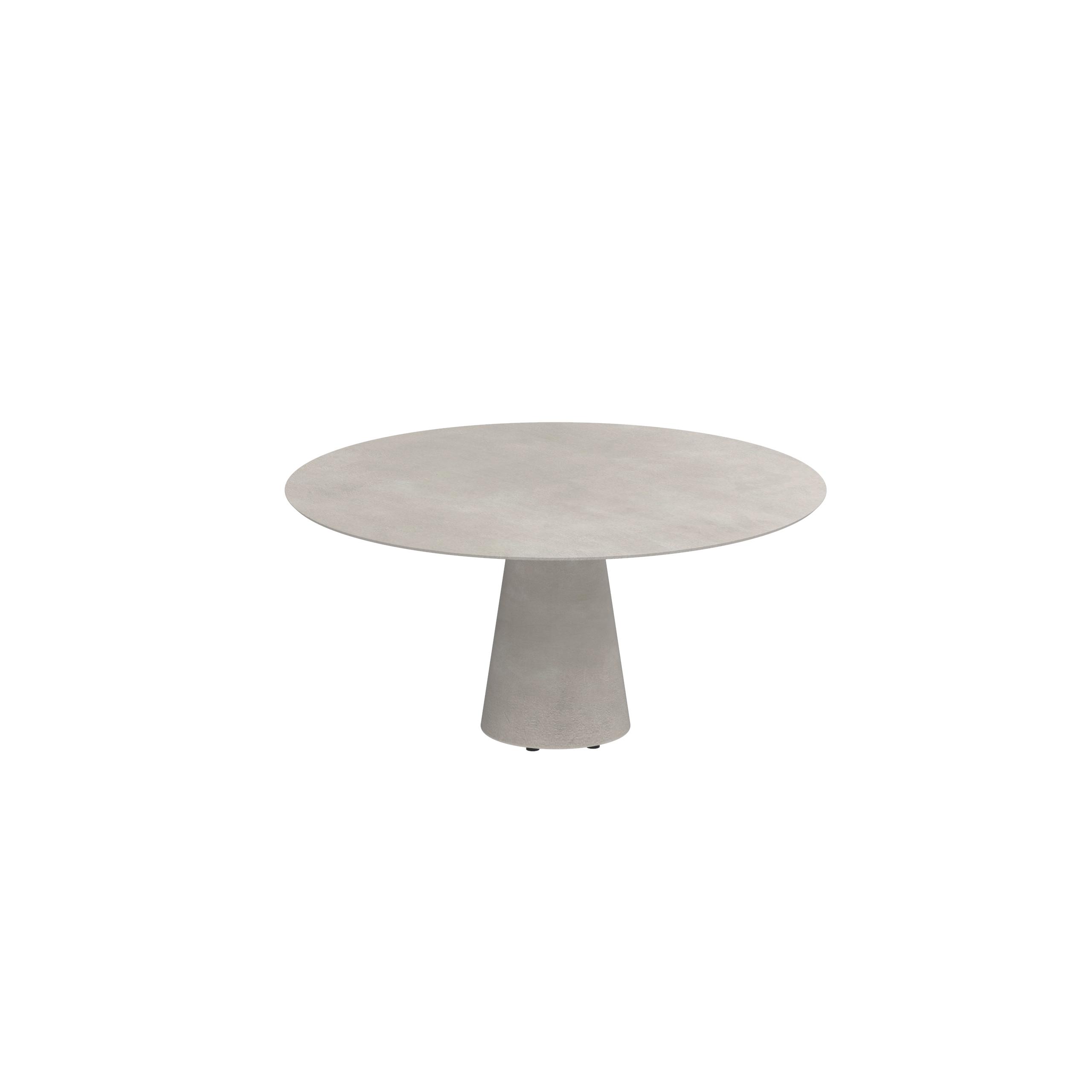 conix table 160cm round concrete