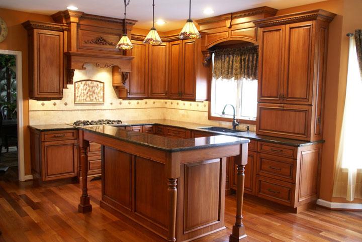 Lyptus Wood Kitchen Cabinets