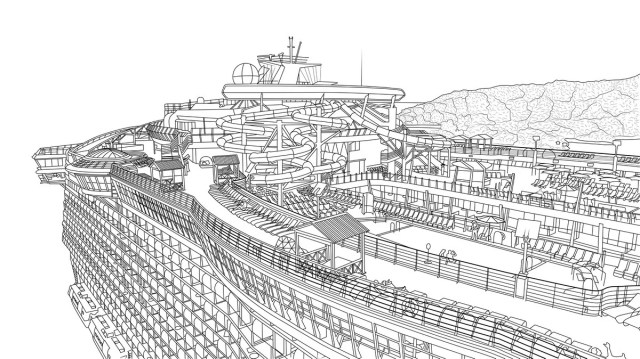 Free printable Royal Caribbean coloring pages for adults!  Royal