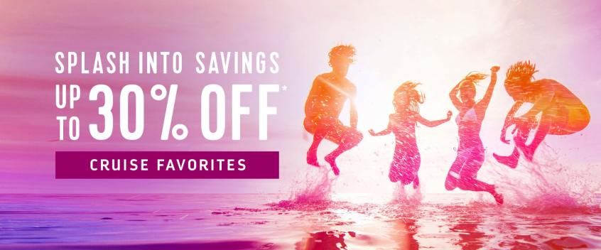 Save up to 30% off pre-cruise purchases with Royal Caribbean