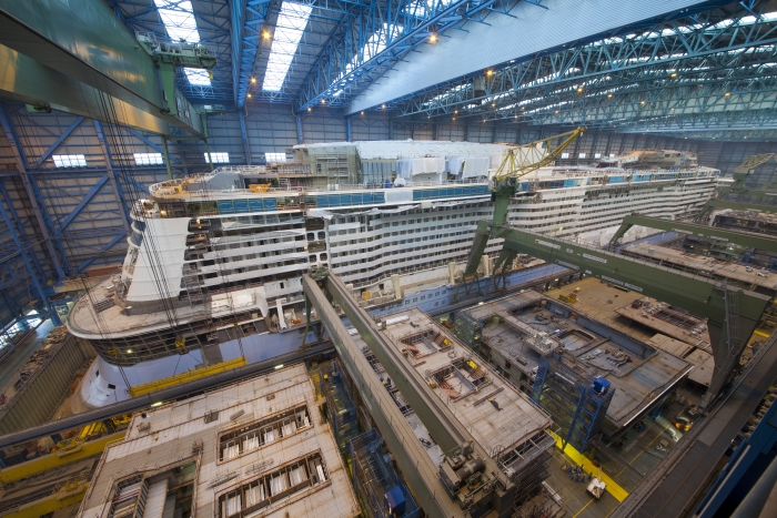 Image result for anthem of the seas under construction