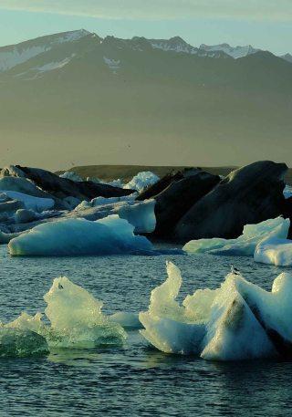icebergs à jokulsarlon