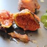 Figues rôties au miel et au jambon Serrano