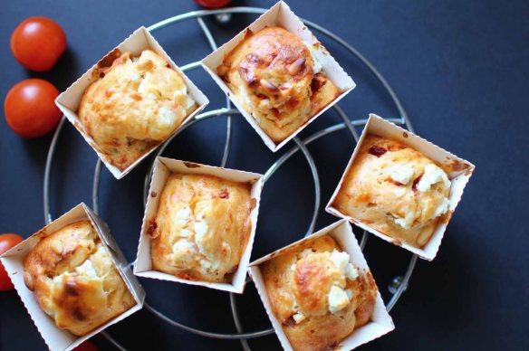 muffins sales aperitif tomates chevre
