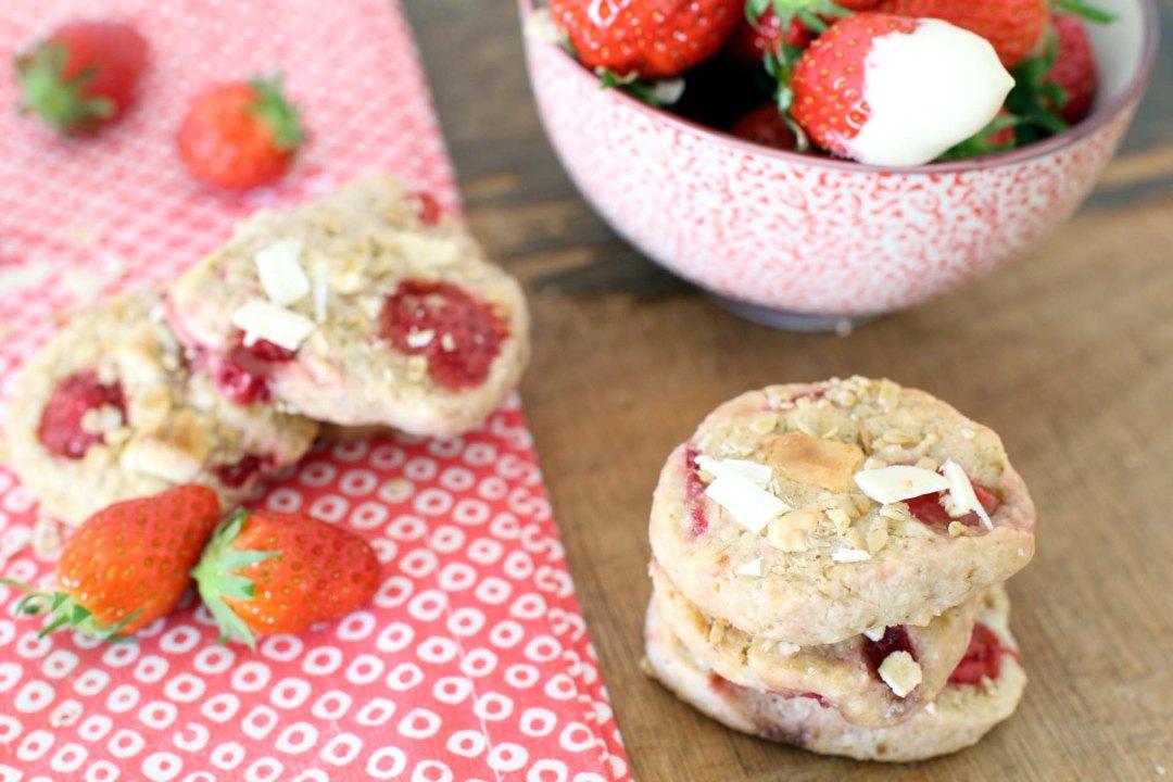 cookies flocons avoine fraises chocolat blanc laura todd