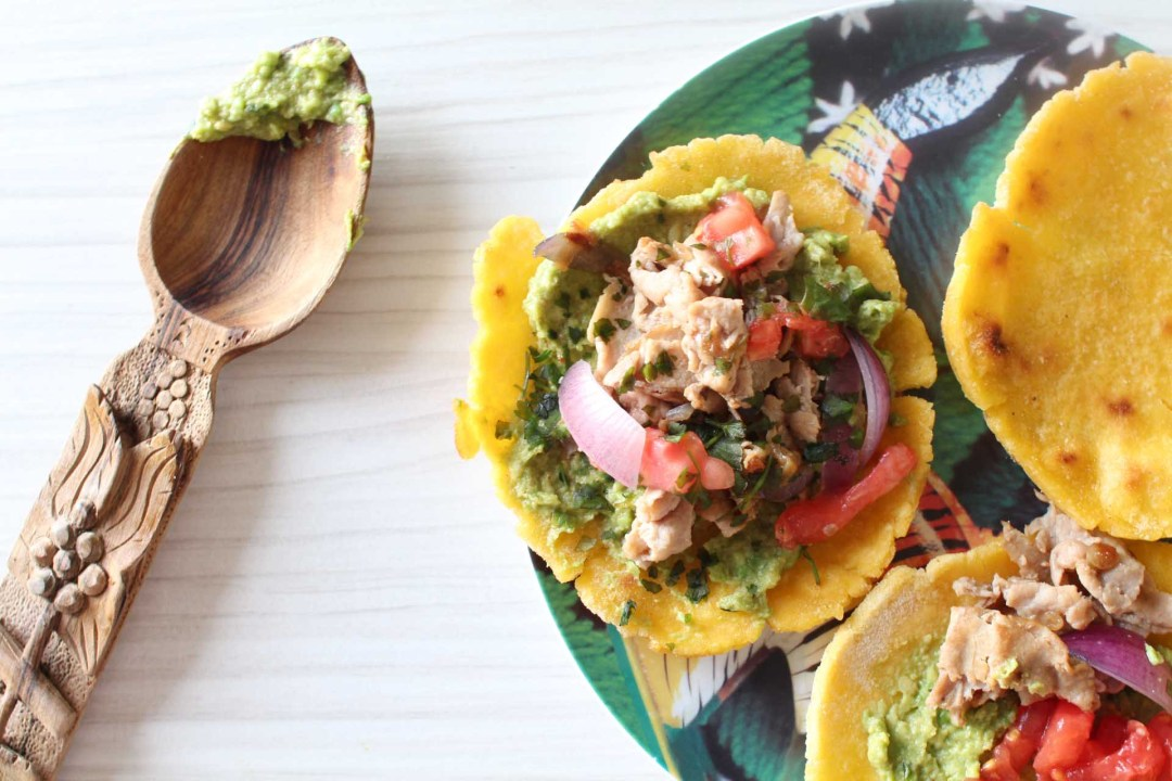 tacos galettes mais boeuf guacamole