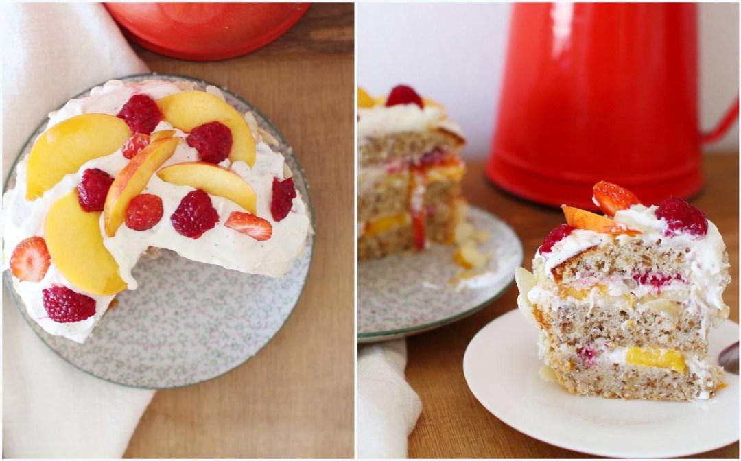 layer cake trish deseine noisettes nectarines