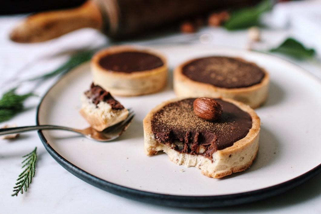 Tartelettes chocolat noisettes epices erable