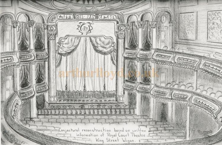 Royal Court Theatre Wigan auditorium sketch