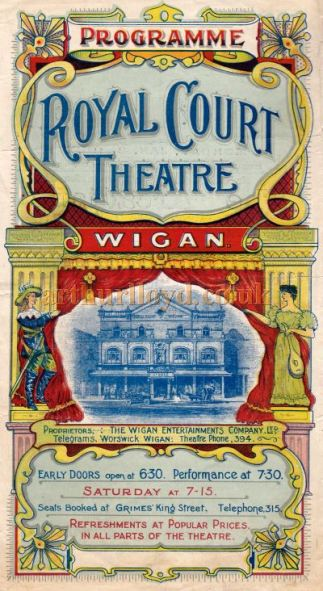 Royal Court Theatre Wigan programme
