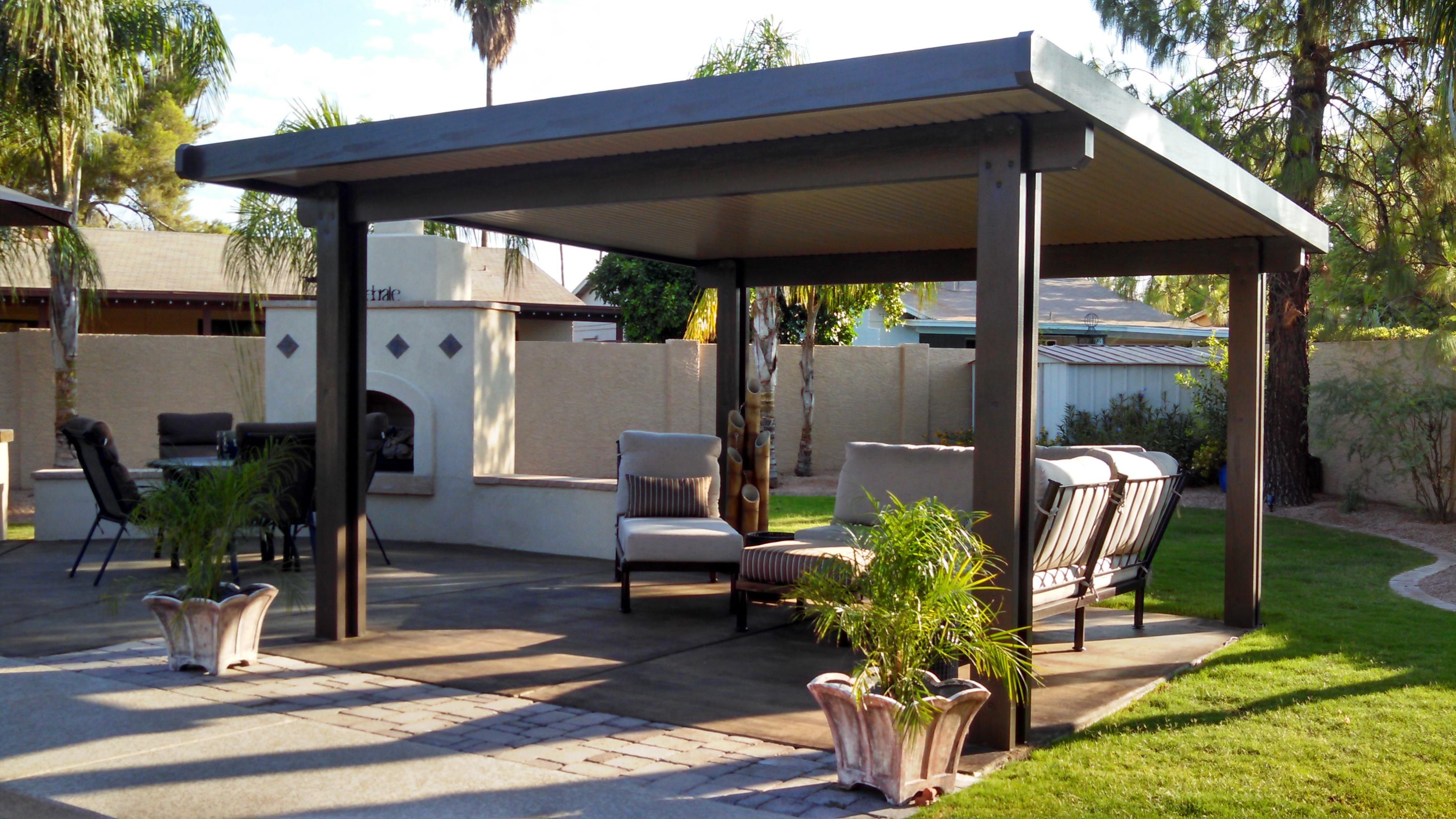 traditional aluminum patio covers