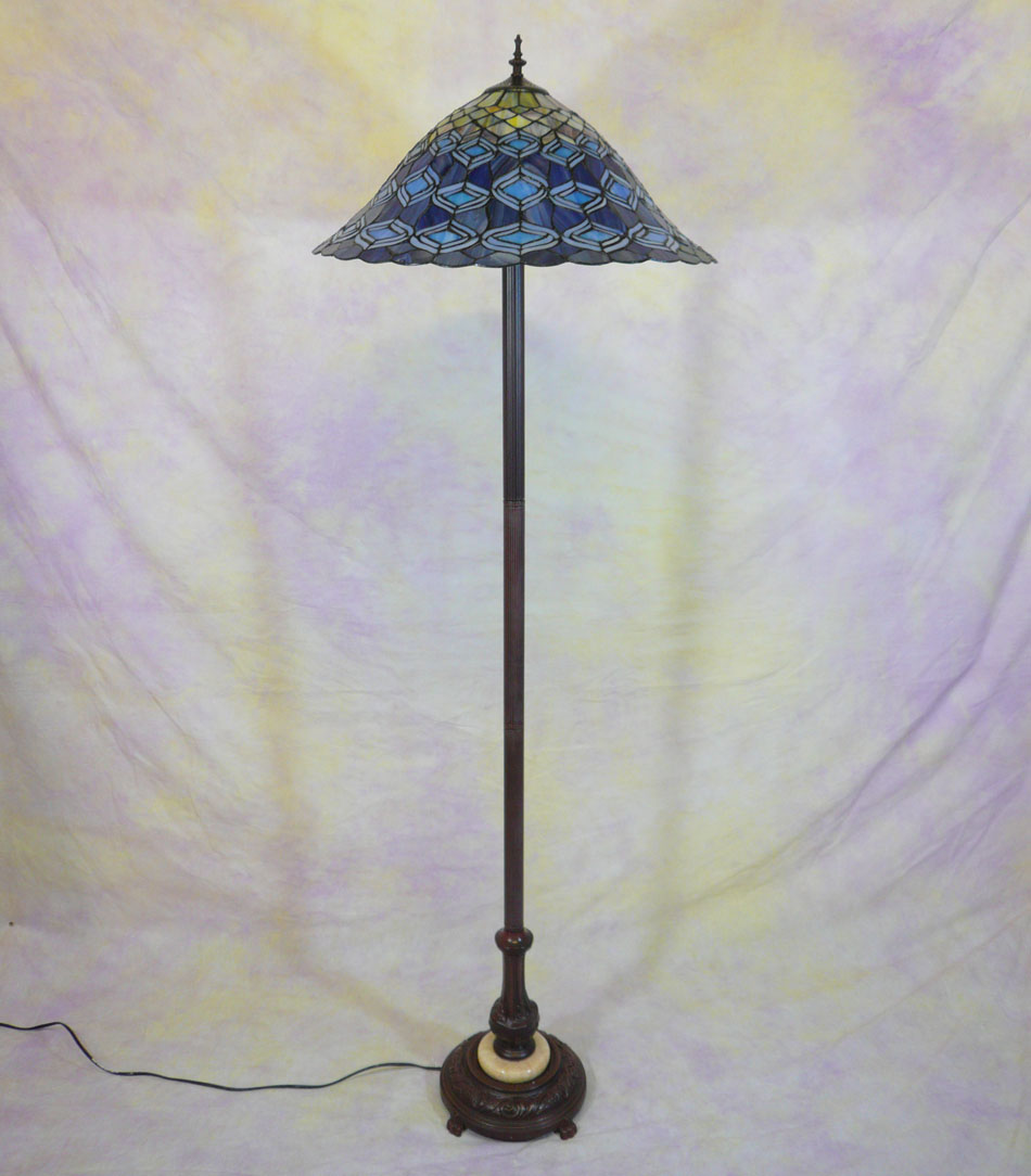 Peacock Tiffany Style Floor Lamp Art Deco Tiffany