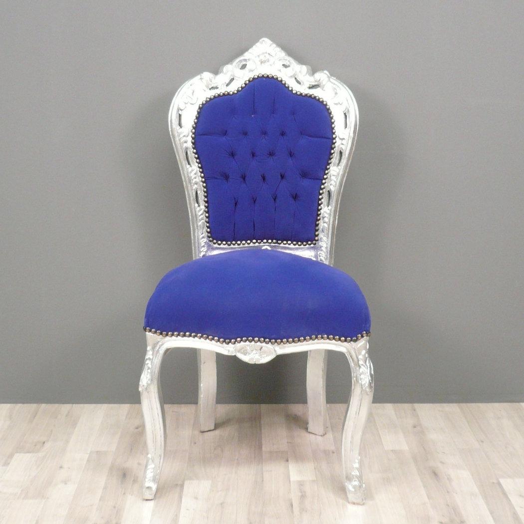 Baroque Blue Chair Chairs Baroque