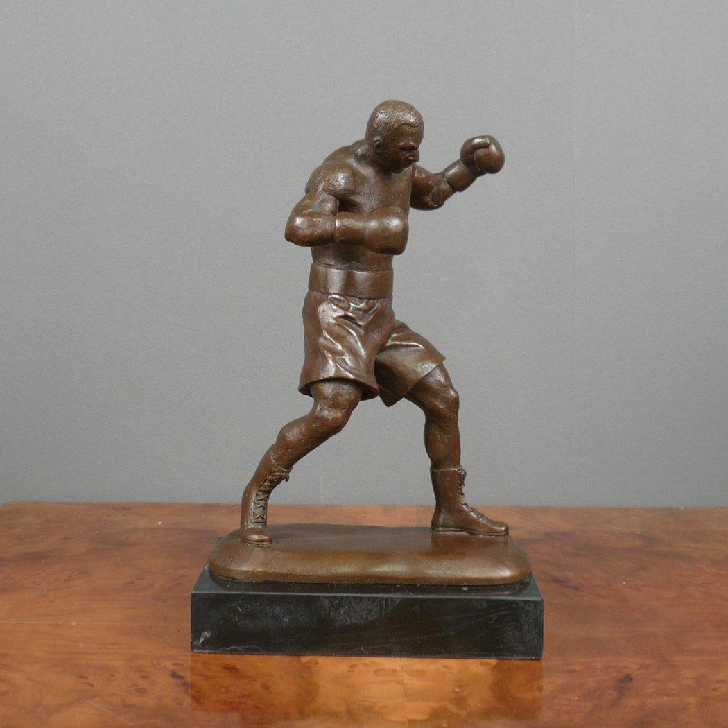 Boxer Bronze Sculpture Statues