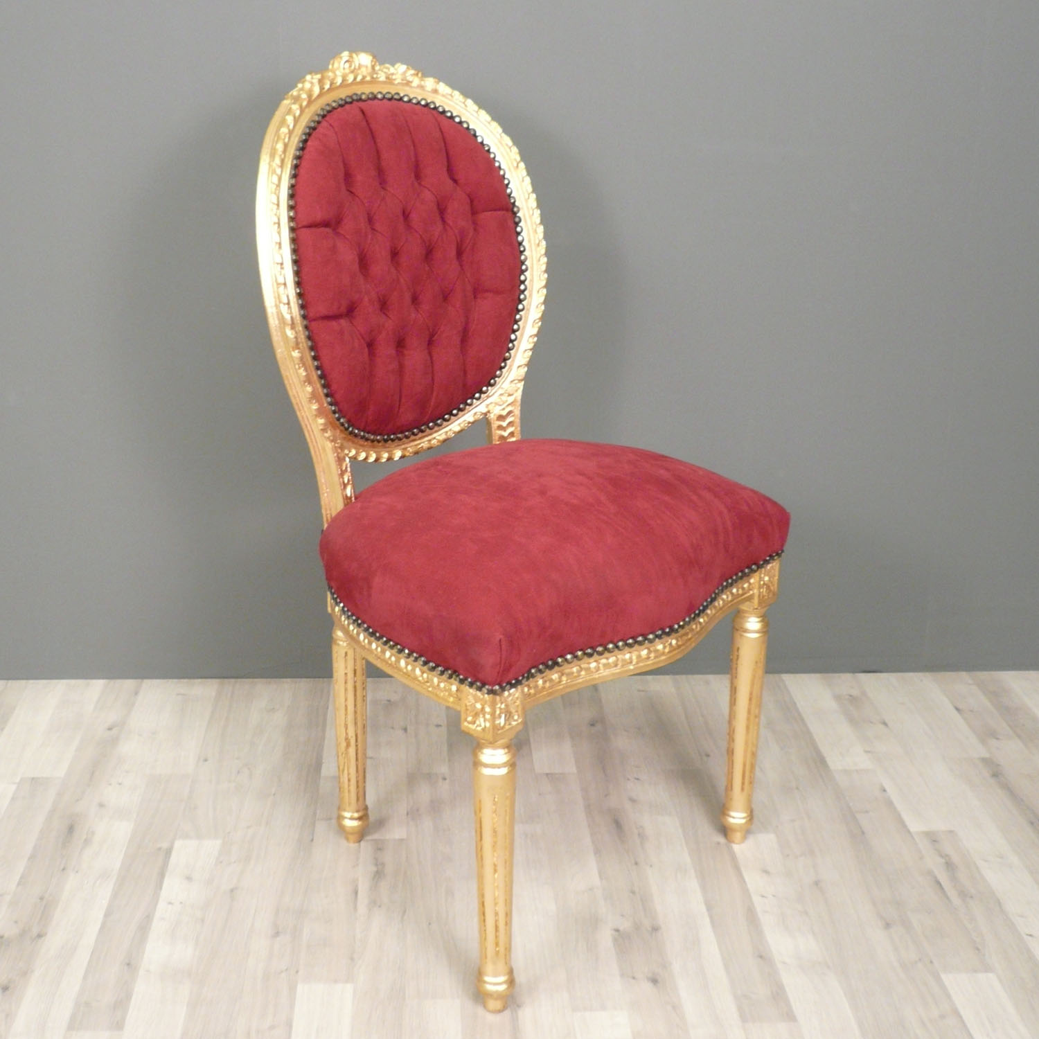 Chaise Louis XVI Baroque Rouge Chaise Baroque