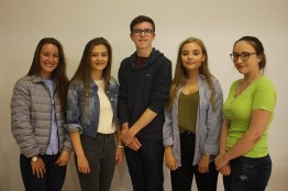 Emily Carson, Robyn Moore, Matthew Green, Abbie Ballantine and Hannah McClung all scored A* or A grades in 9 subjects