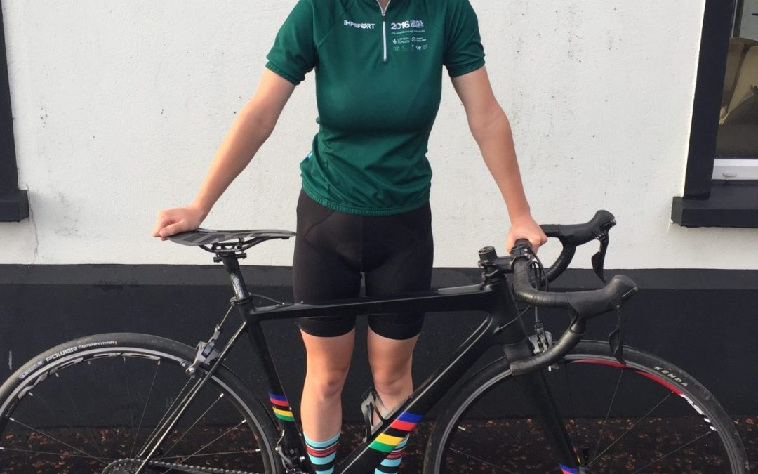 Ellie selected to cycle at the Tour of London