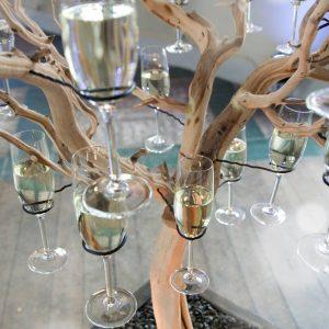 arbol,champagne,bodas,eventos