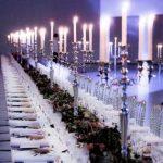alquiler candelabros de plata evento cena de gala