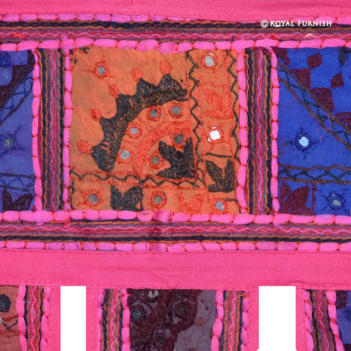 38 Pink India Patchwork Toran Window Door Hanging Valance