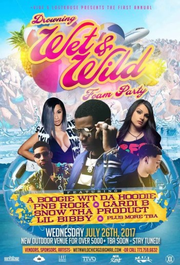 wet and wild foam party