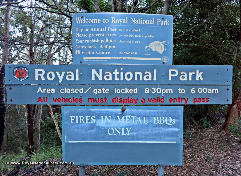 Royal National Park entrance sign