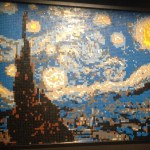 Lego Art of the Brick-Starry Night by VanGogh