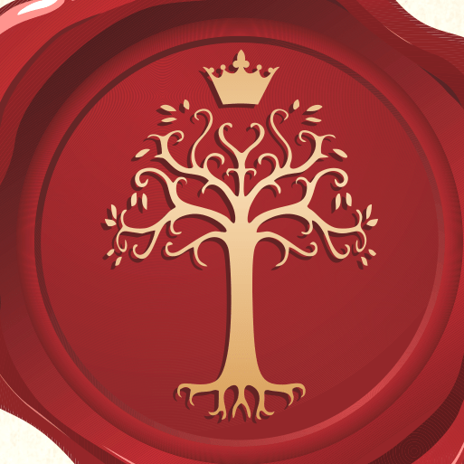 Wax Seal with Tree and Crown in Center