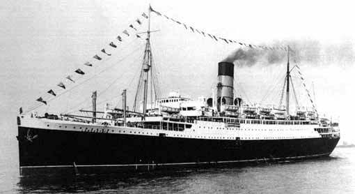 The Lancastria (image: Royal Pioneer Corps website)